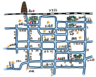 手绘地图带你春节逛园林