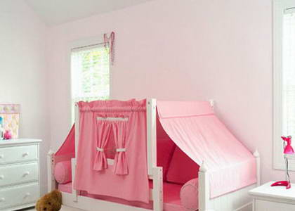 卧室流行风格儿童房 小丸子式可爱小床(组图)