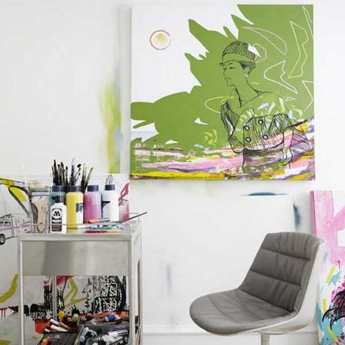 勾勒浪漫艺术家居 手绘墙画鉴证爱情(图组)