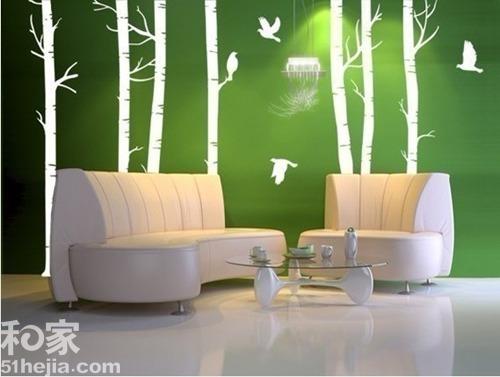 墙绘树木森林素材