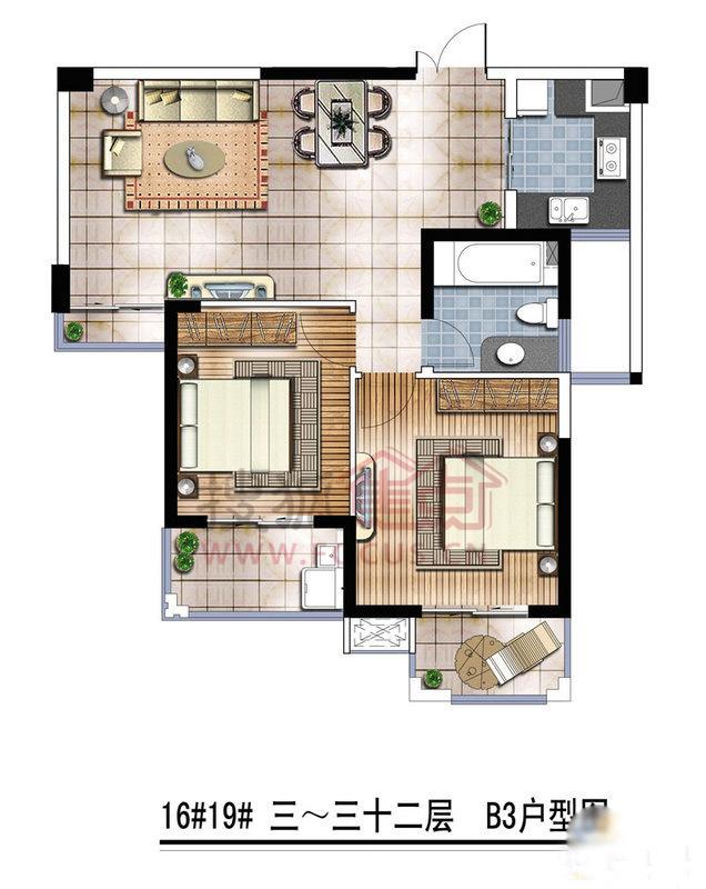 81平米房子结构图