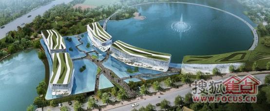 棕榈岛鸟瞰图——建筑体与水面实现完美交融