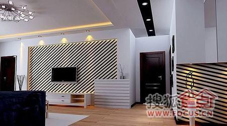 简约电视背景墙装修 将客厅光辉点亮