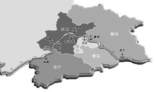 16个港口产业园中,武汉市重点建设军山,汉口北,白浒山,古龙