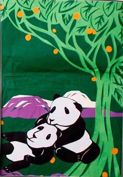 剪贴画《熊猫一家》图片