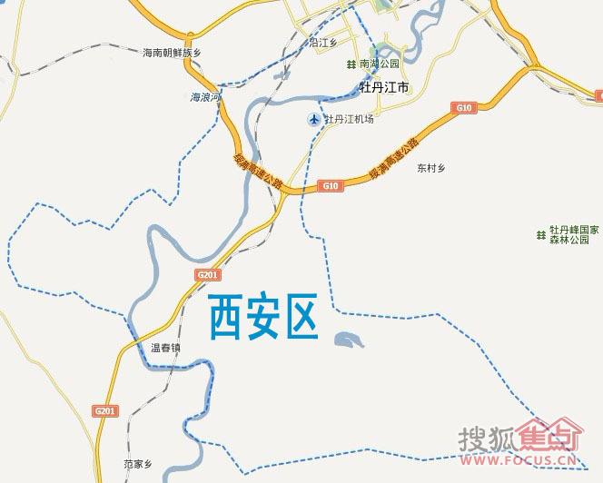 牡丹江市西安区地图