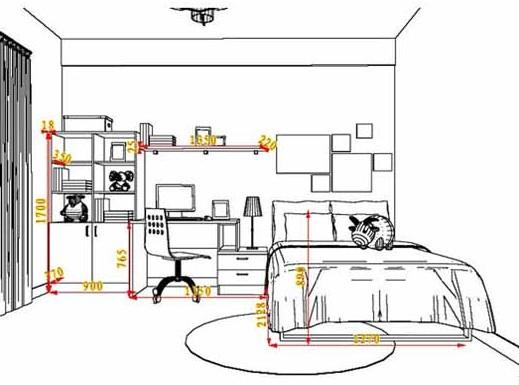 尚品宅配新居网一儿童房定制家具的设计图,连摆放的公仔也可以设计