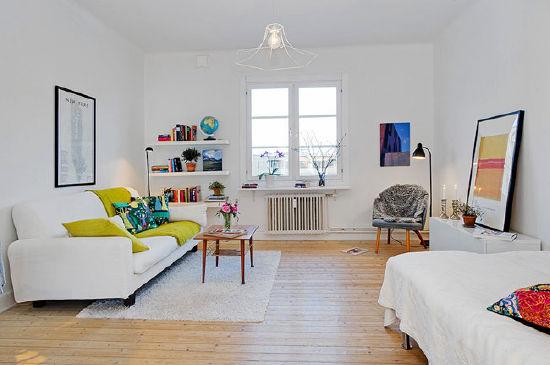 34平米迷人温馨 精致单身公寓装修效果图(组图)