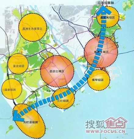 珠海城市空间格局