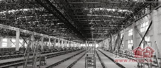 """湘湖停车场内部,未来这些地铁轨道上都将停满""""酣睡""""的地铁列车"""