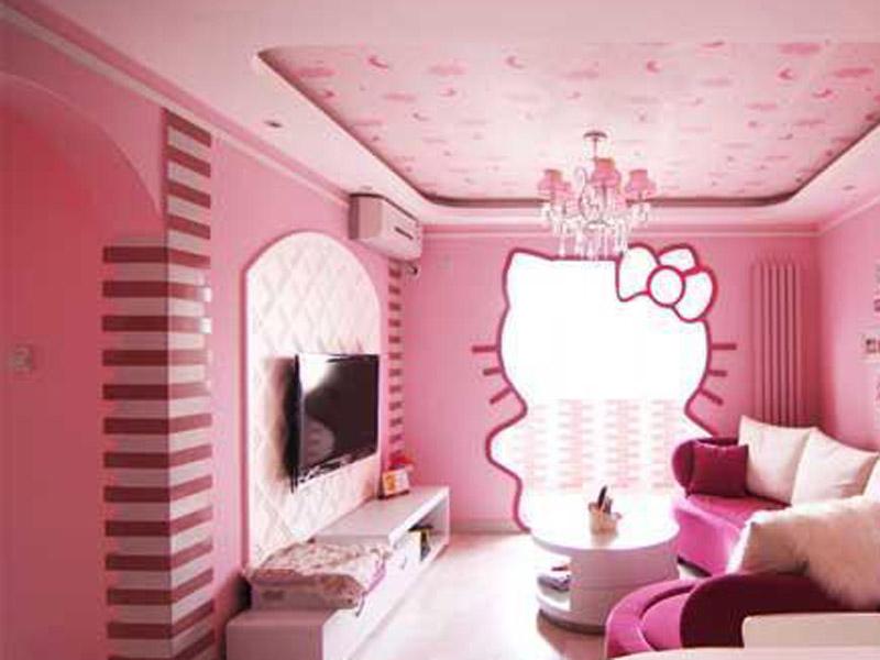 创意设计 精美kitty主题房间