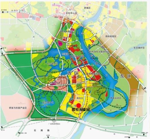 挂绿新城规划图 广州地铁21号线力争年内动工 碧桂园豪园再添利好