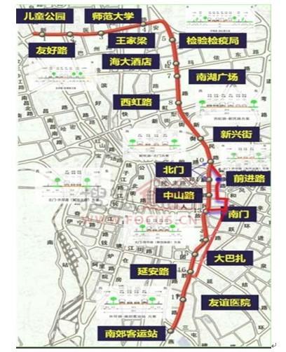 金华brt3号线路图-BRT-3号线路线图(图片来自网络)-乌鲁木齐加强交通建设 聚焦BRT 图片