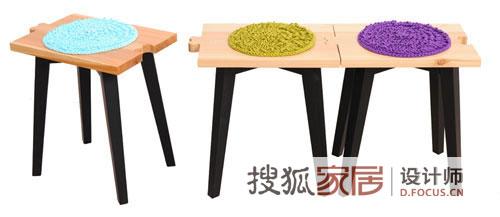 木头与织物的联姻 创意家具设计