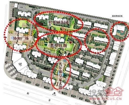 东方早城小区景观规划图