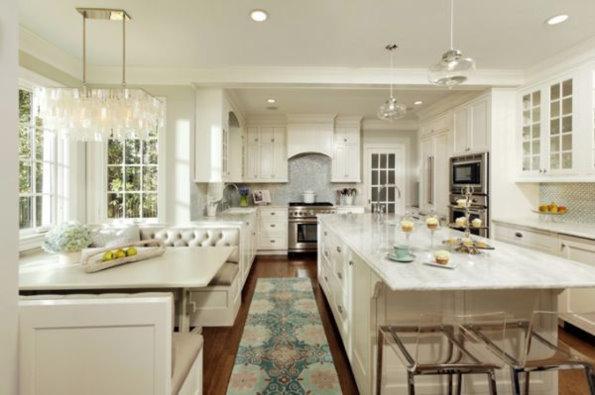 欧式经典吧台厨房 典雅实用的装饰效果图