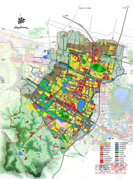 土地利用规划图-绍县2012 2030城市总体规划 初步方案征集意见