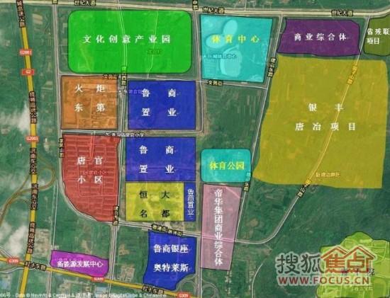 济南高新区唐冶片区规划图