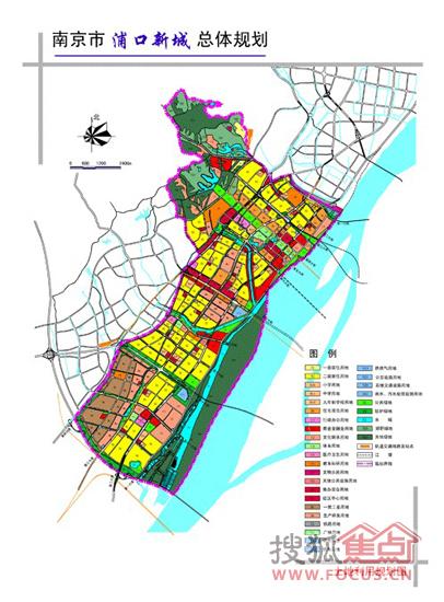 浦口新城总体规划-浦口新城 15分钟直达河西 板块开发亟待提速