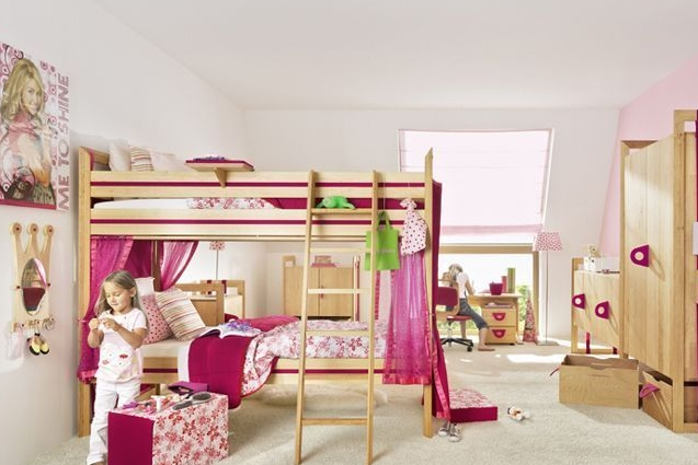 儿童房装修效果图 女孩儿童房打造梦幻家园
