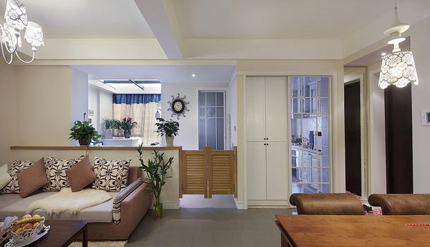 次卧改客厅阳台改书房 90平现代混搭2居