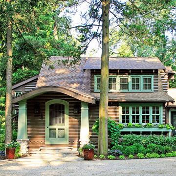 老式木屋创意改造 变身豪华林中别墅(图)