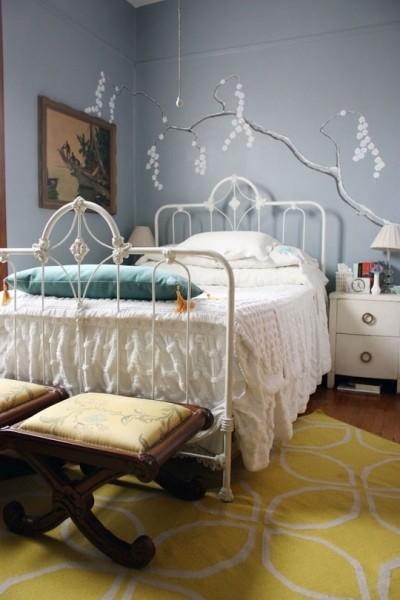 淡雅的蓝灰色卧室更惬意; 卧室设计 清新淡雅浓浓怀旧情(组图)   灰色