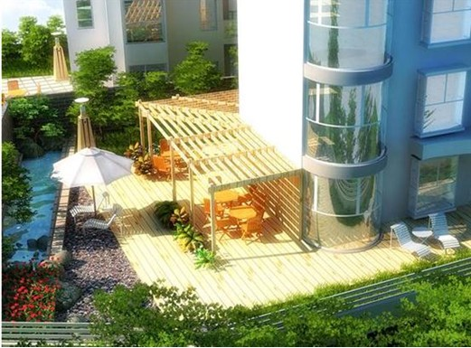 为了生活与居住在城市高空的人也能拥有鸟语花香,空中花园应运而生.图片