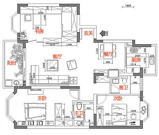 120平复式楼设计图