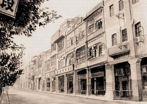 以水彩,水粉,素描等手绘艺术作品为载体,记录了北京,上海,广州,太原