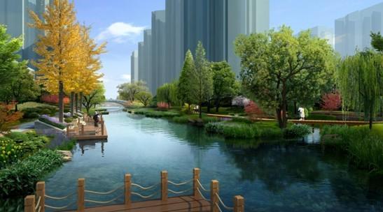 中轴景观河效果图 -观湖壹号特价房4911元 平米 幸运大转盘抽奖