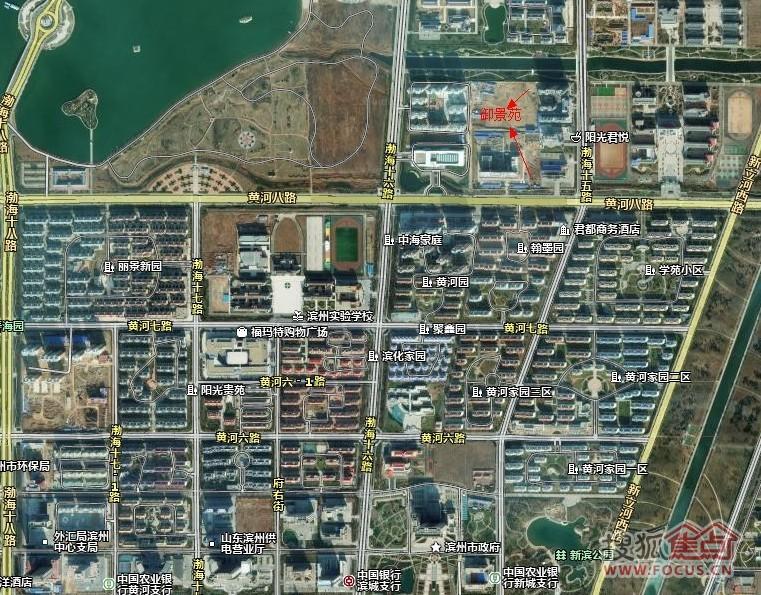滨州中海公园平面�_与滨州与中海公园一路之隔,北侧为中海相接的新开河,南侧为老干局北侧