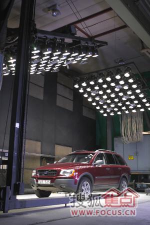 沃尔沃汽车整车高温测试高清图片