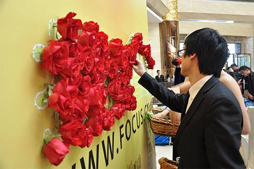 到场嘉宾签到插花