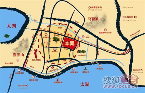 苏州河儿童手绘地图