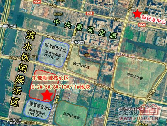东部新城核心区E-2#/5#/6#/10#/11#地块卫星图