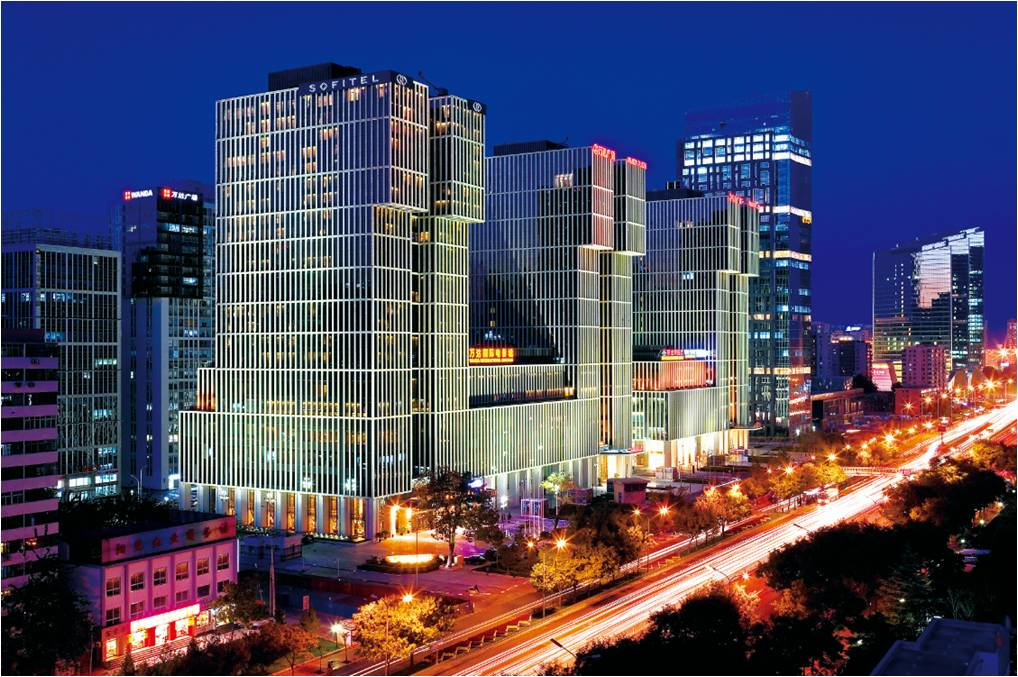 北京cbd建筑手绘图