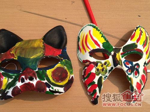 全家总动员 面具DIY彩绘