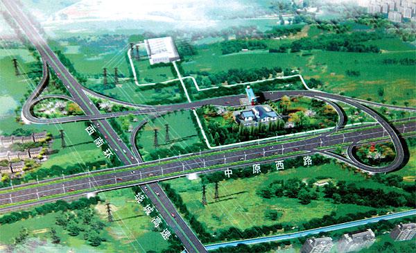 与西南绕城高速互通式立交效果图-中原路西南绕城立交春节前通车