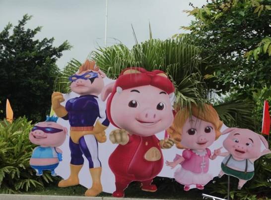 可爱卡通的猪猪侠动漫神奇出现,动漫节马上开始啦!
