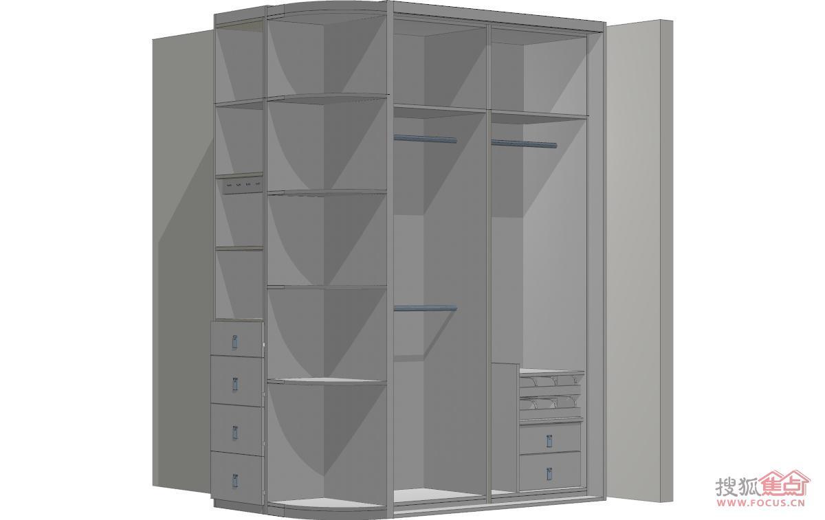 衣柜内部结构图-索菲亚定制45㎡小户型 新旧家具的完美结合