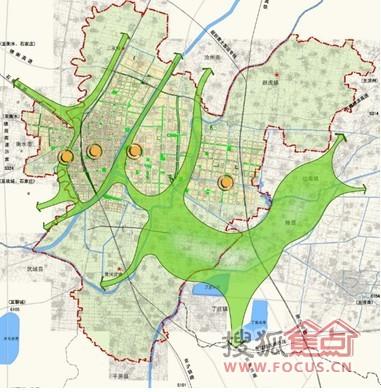 中部在老城中心,河东新区在市政府,高铁新区在高铁站的带动下,商贸