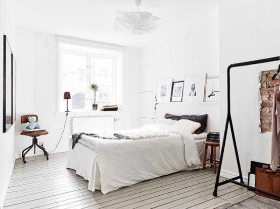 北欧风格小户型公寓 纯白地板年轻女人味图片