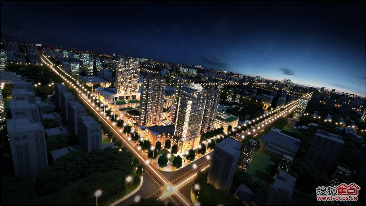 中央公园;;; 富泰国际·中央公园项目夜景鸟瞰图;             中央