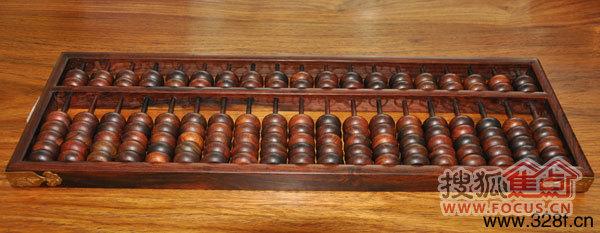 红木工艺品――算盘(鸿庭轩供图)