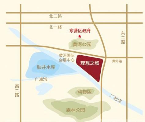四面环水形成护城河,更有黄河公园,文化公园,森林公园,动物园环抱