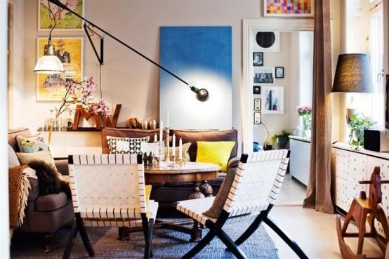 北欧混搭风格多彩公寓图片
