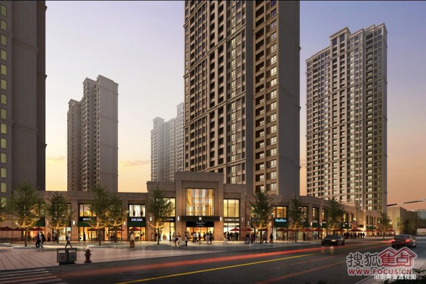 商业街区润街区、甲级商务办公楼群、高尚酒店式公寓等都会优高清图片
