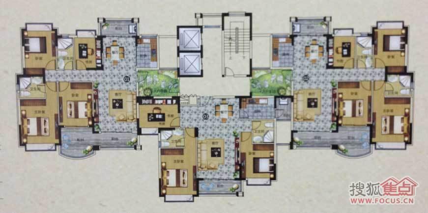 112平米温馨三房,125平方尊贵三房及149平方豪华四房.