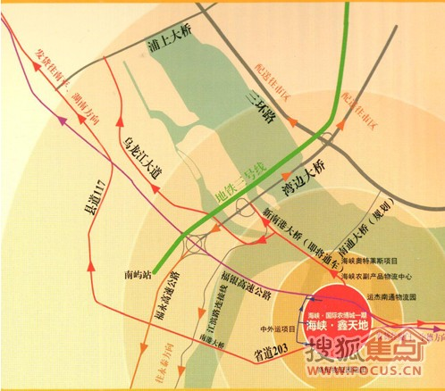 南港大桥,湾边大桥,福银高速南通互通立交完美接驳城市三环
